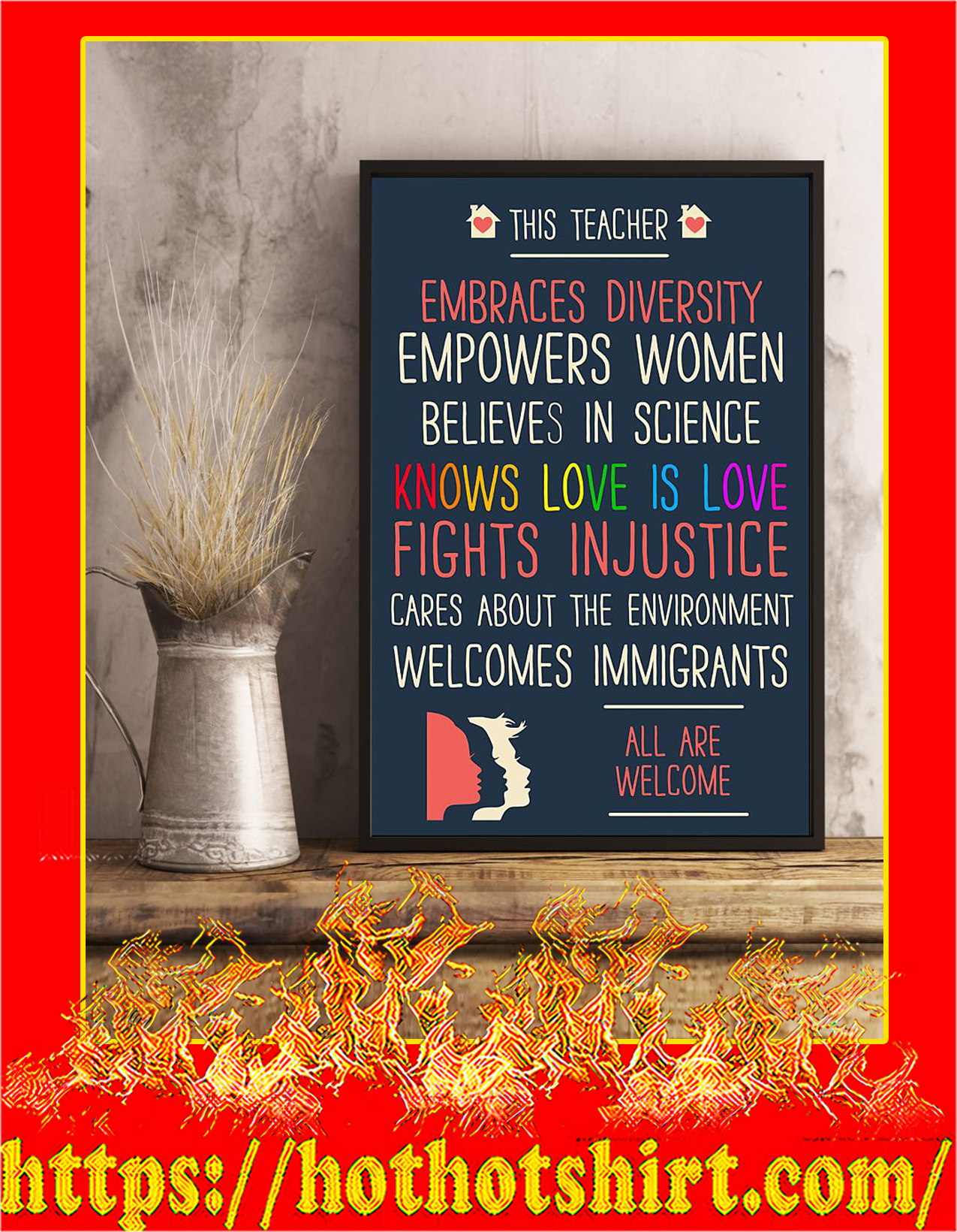 LGBT This teacher embraces diversity poster - pic 3