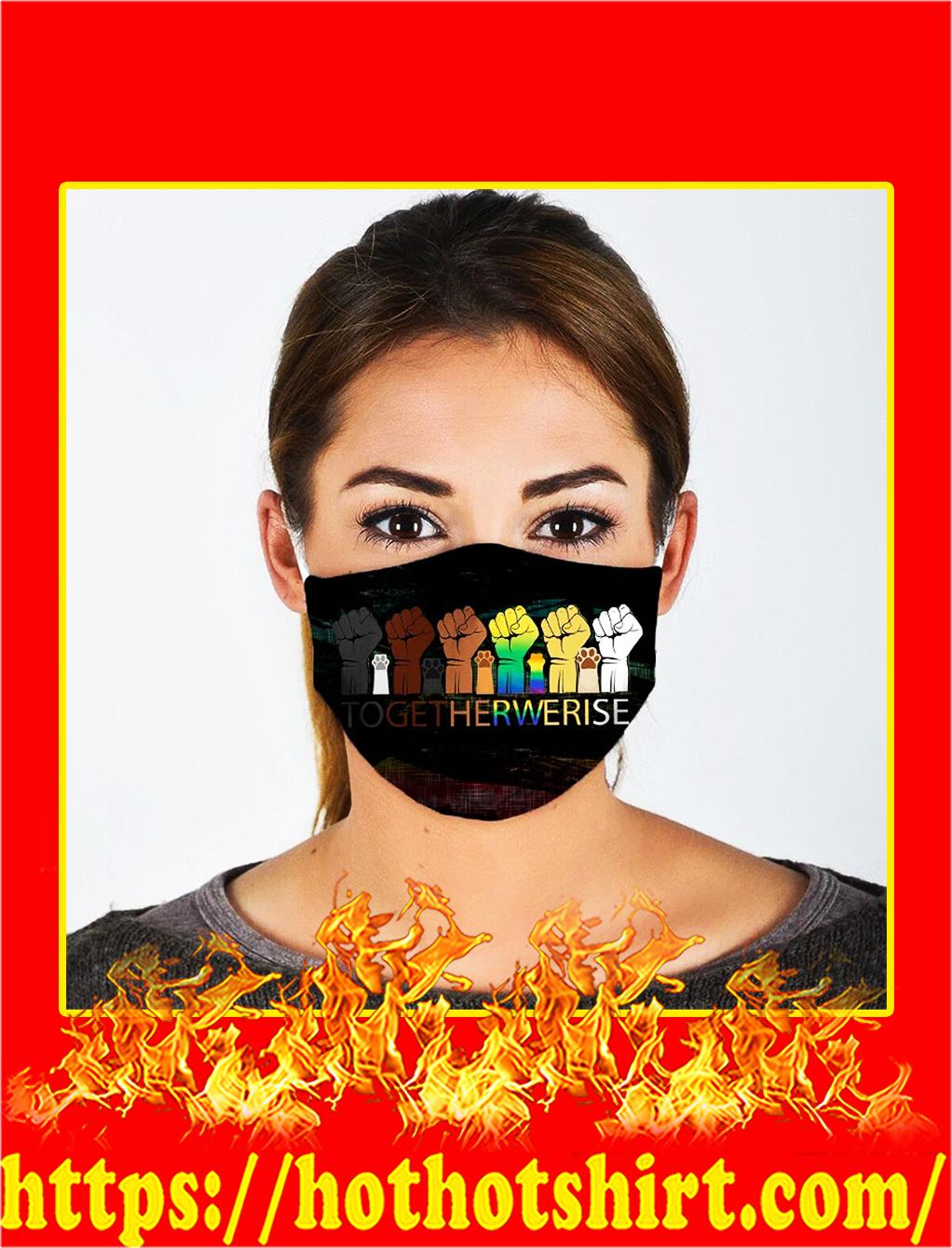 LGBT pride hand togetherwerise face mask- pic 1