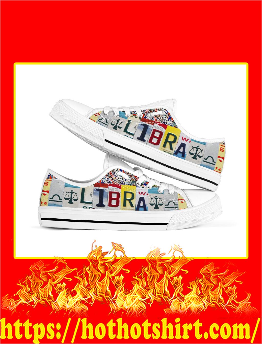 Libra license plates low top shoes- pic 1