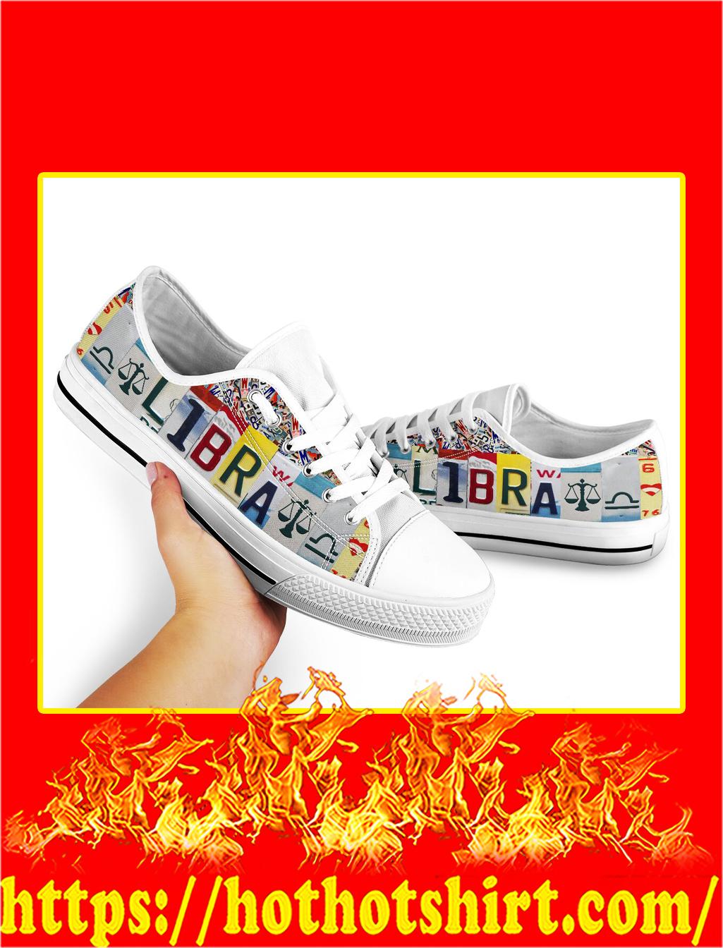 Libra license plates low top shoes- pic 2