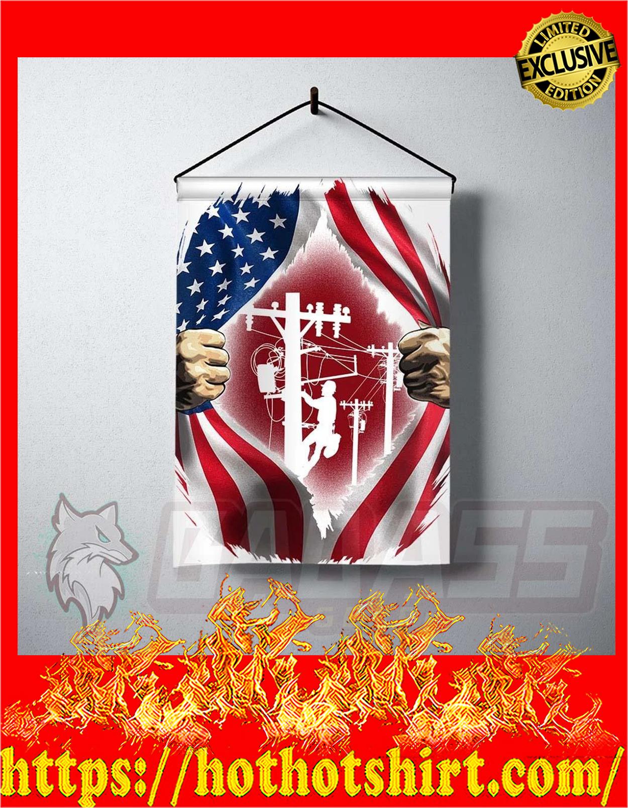 Lineman inside me american flag - pic 1