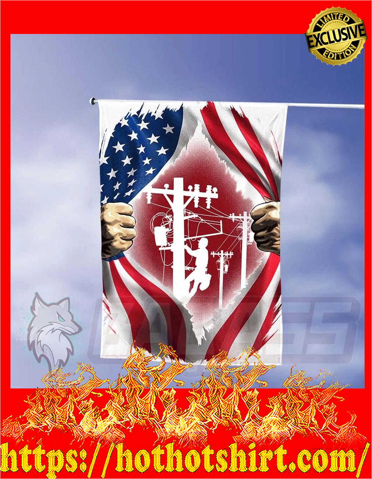 Lineman inside me american flag - pic 2