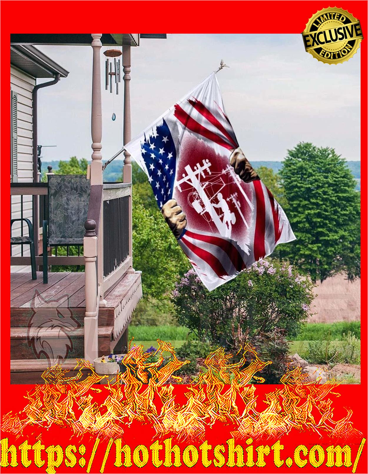Lineman inside me american flag - pic 3