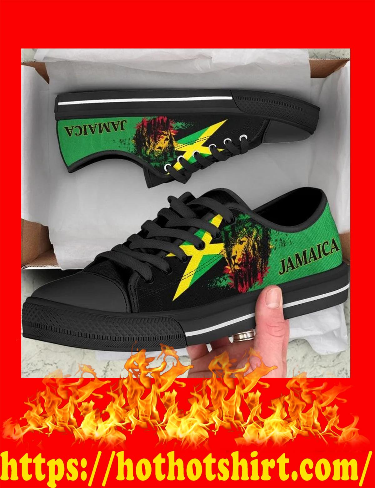Lion flag jamaica low top shoes - pic 2
