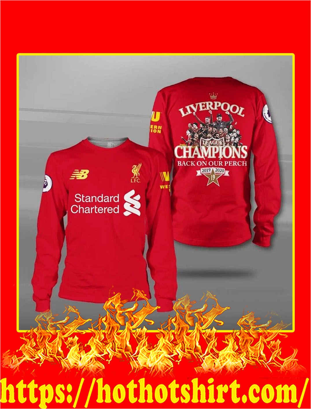 Liverpool champions back on our perch 3d longsleeve tee