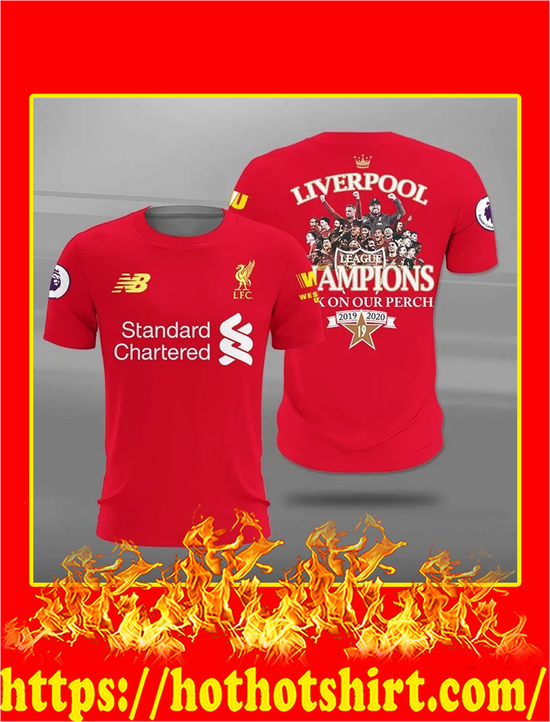 Liverpool champions back on our perch 3d t-shirt