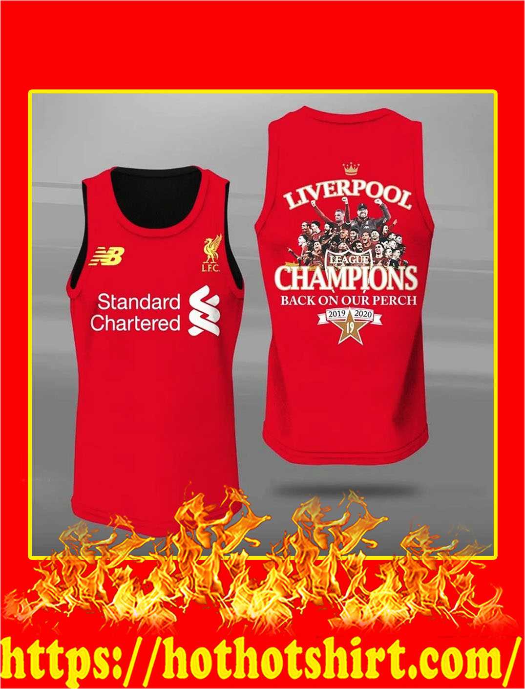 Liverpool champions back on our perch 3d tank top