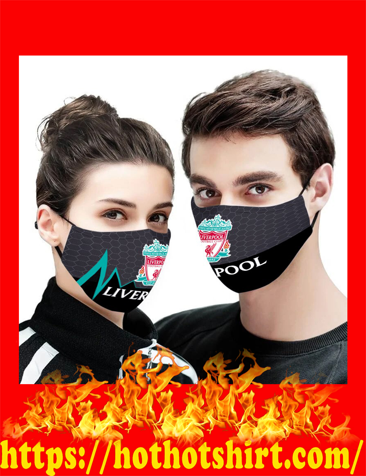 Liverpool face mask-detail