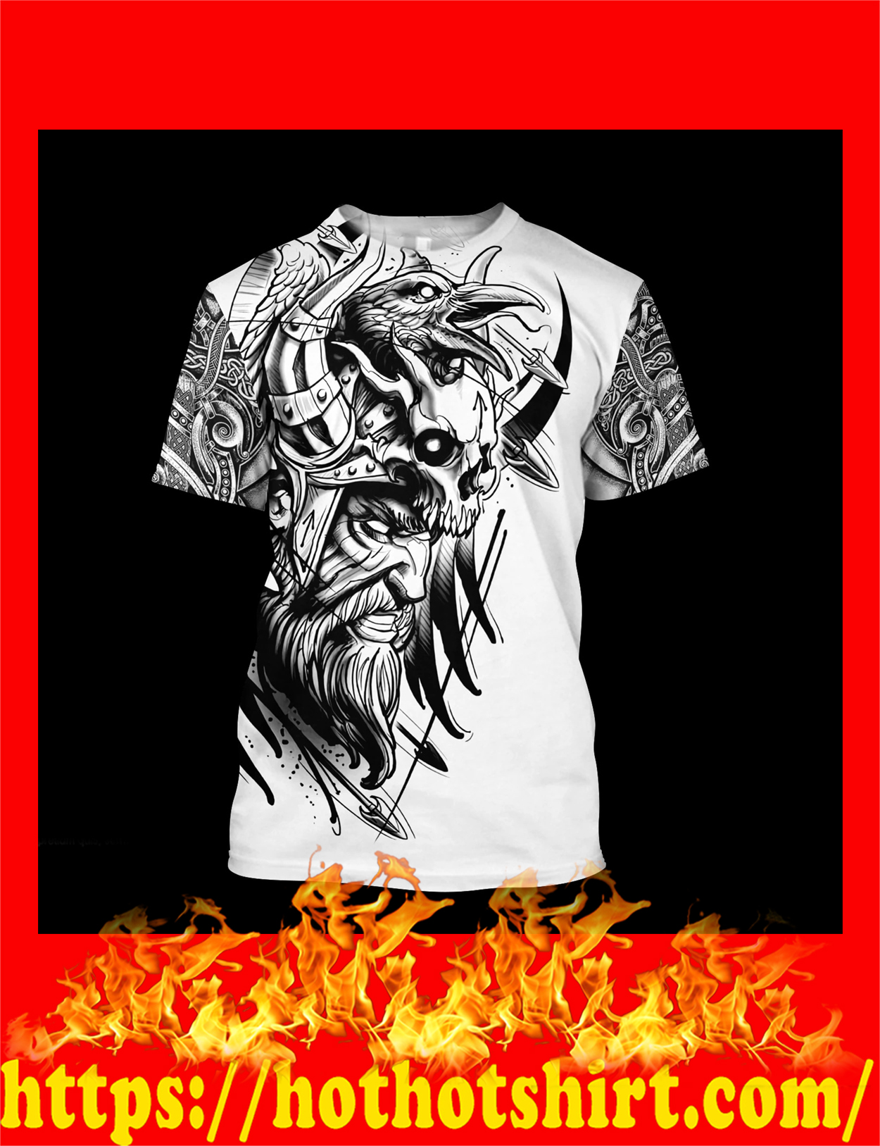 Love viking tattoos 3d all over printed T-shirt