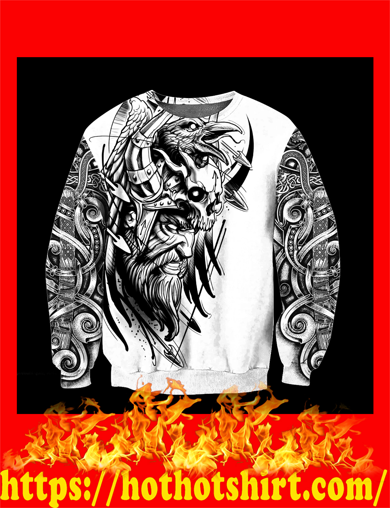 Love viking tattoos 3d all over printed sweatshirt