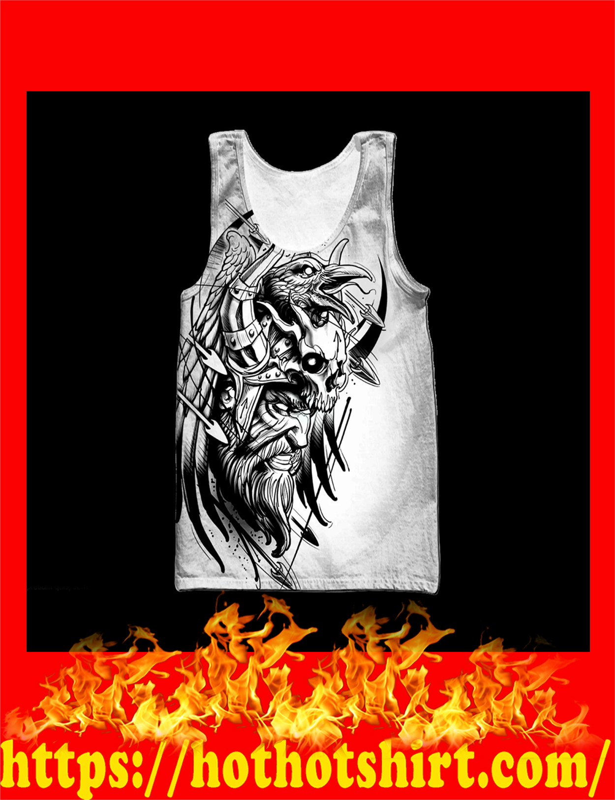 Love viking tattoos 3d all over printed tank top