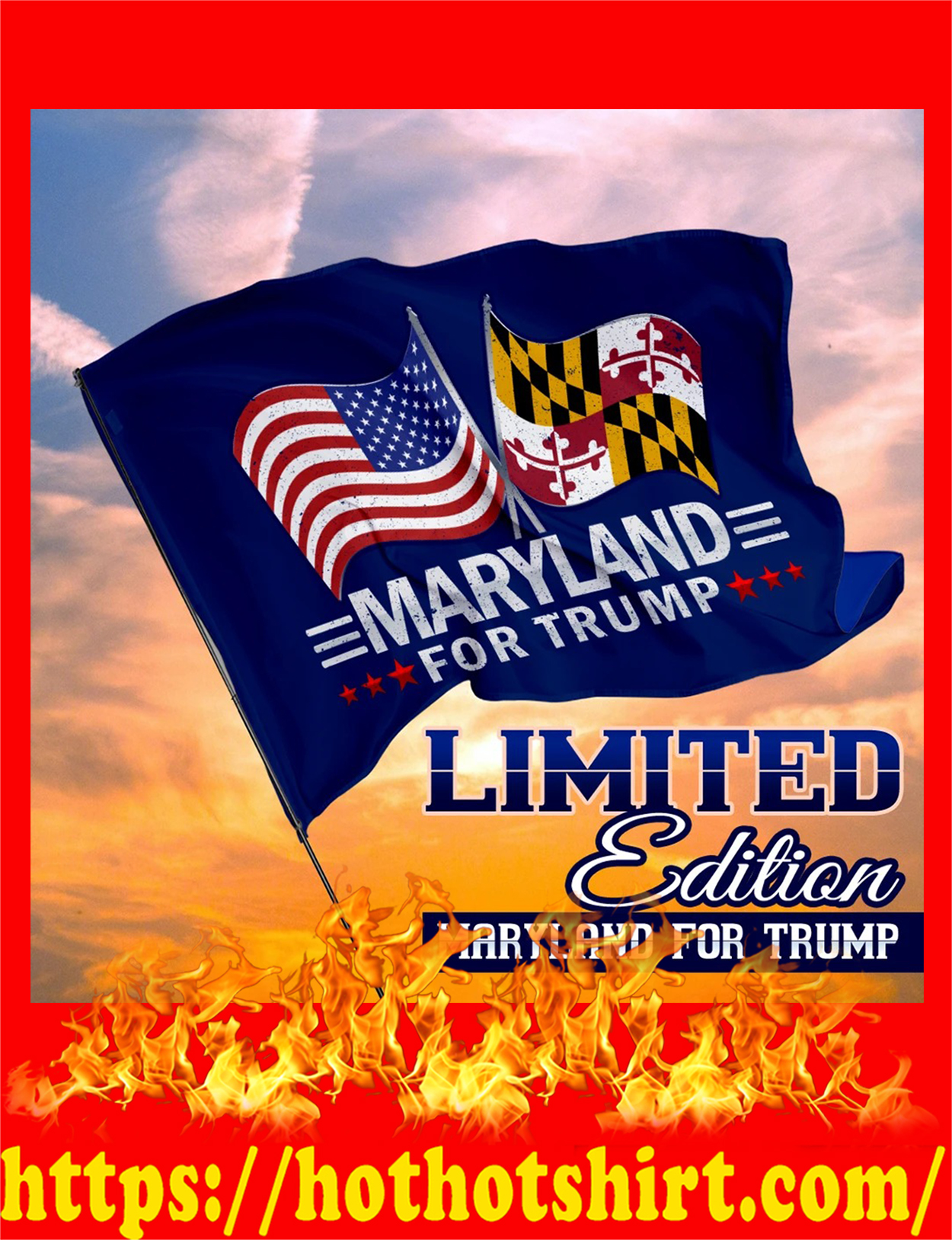 Maryland for trump flag - detail