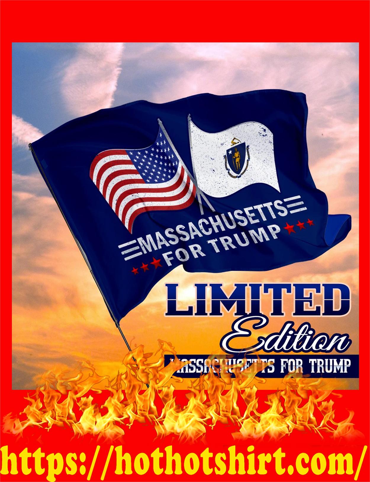 Massachusetts for trump flag - detail
