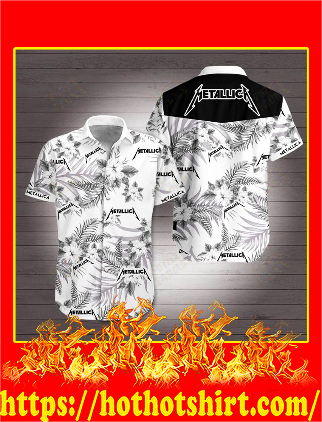 Metallica hawaiian 3d shirt - M