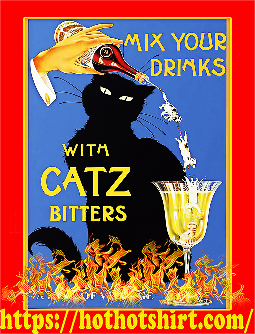 Mix your drinks with catz bitters poster - A3