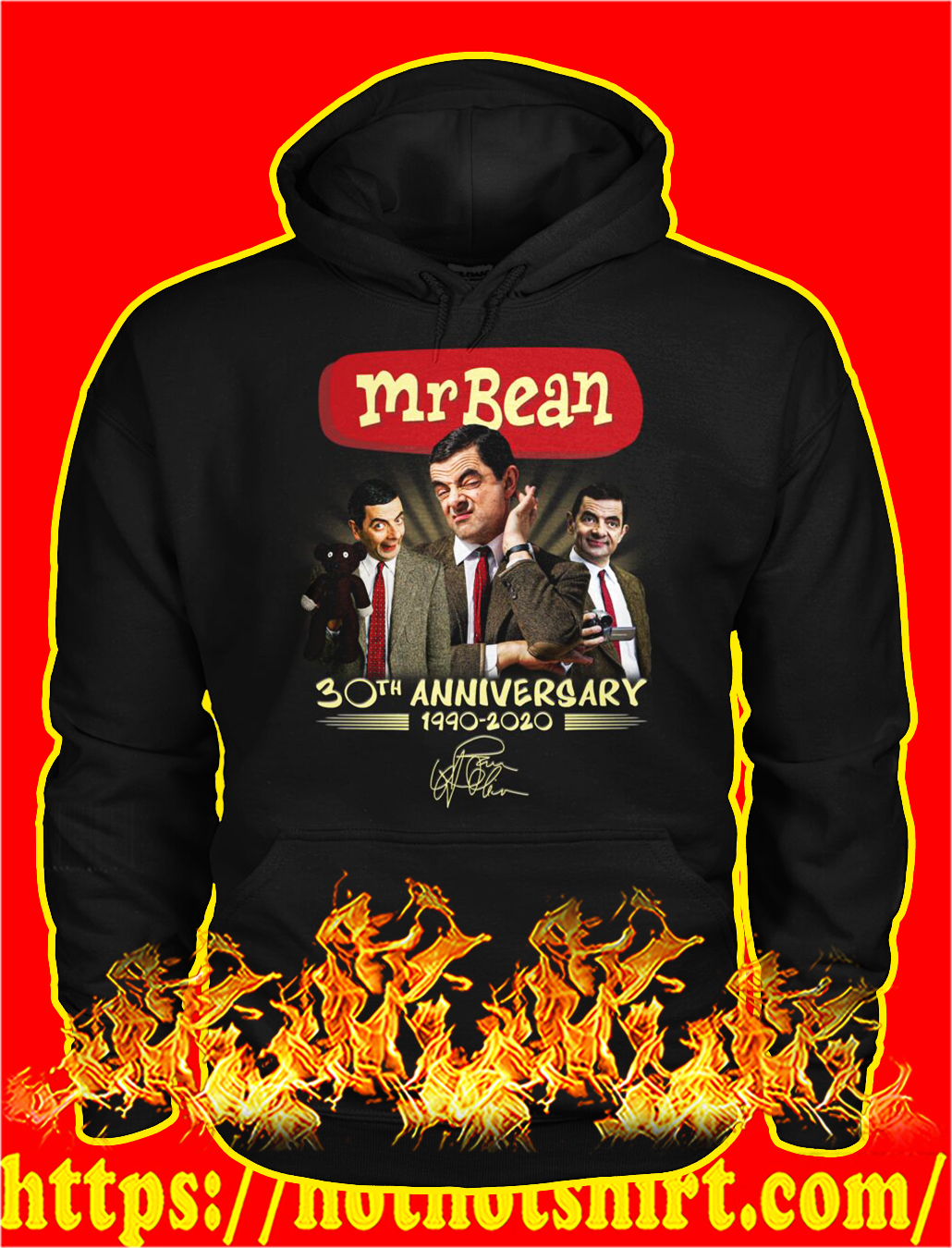 Mr bean 30th anniversary 1990 2020 signature hoodie