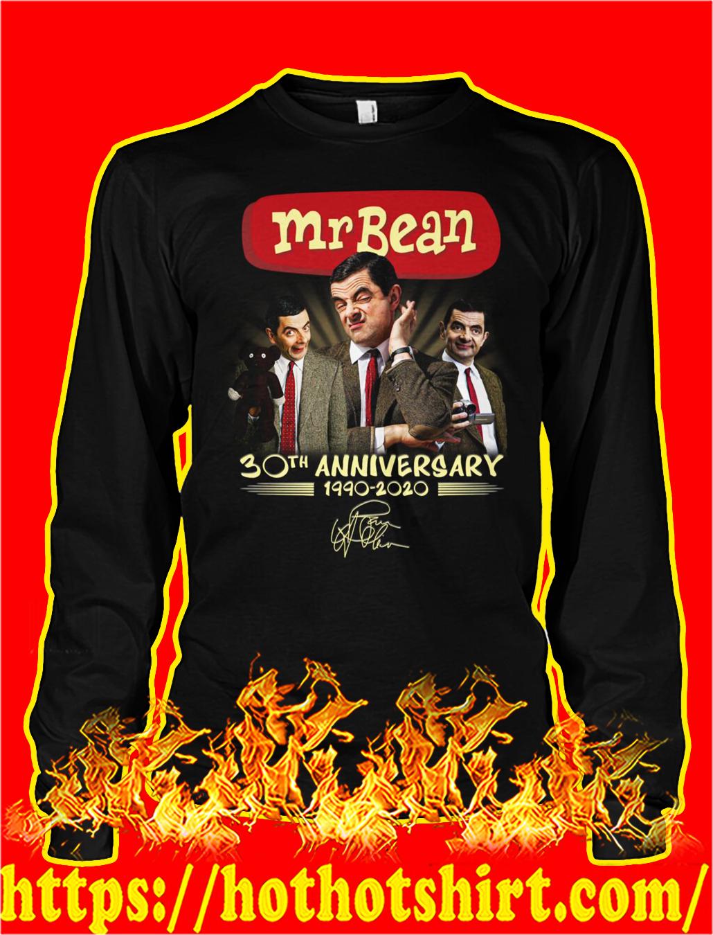 Mr bean 30th anniversary 1990 2020 signature longsleeve tee
