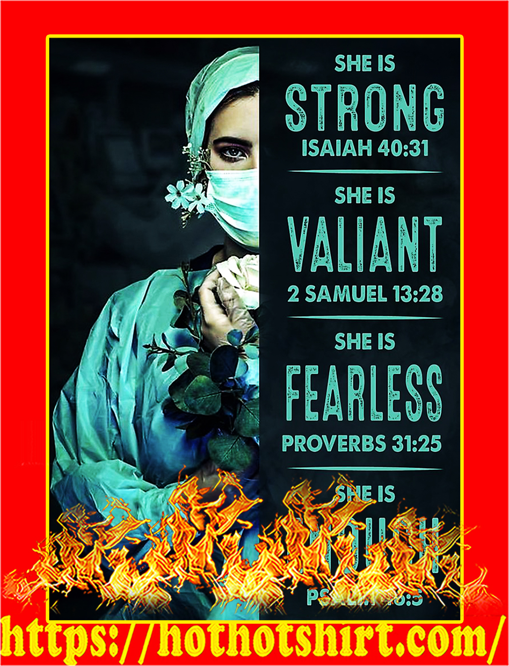Nurse she is strong poster - A2