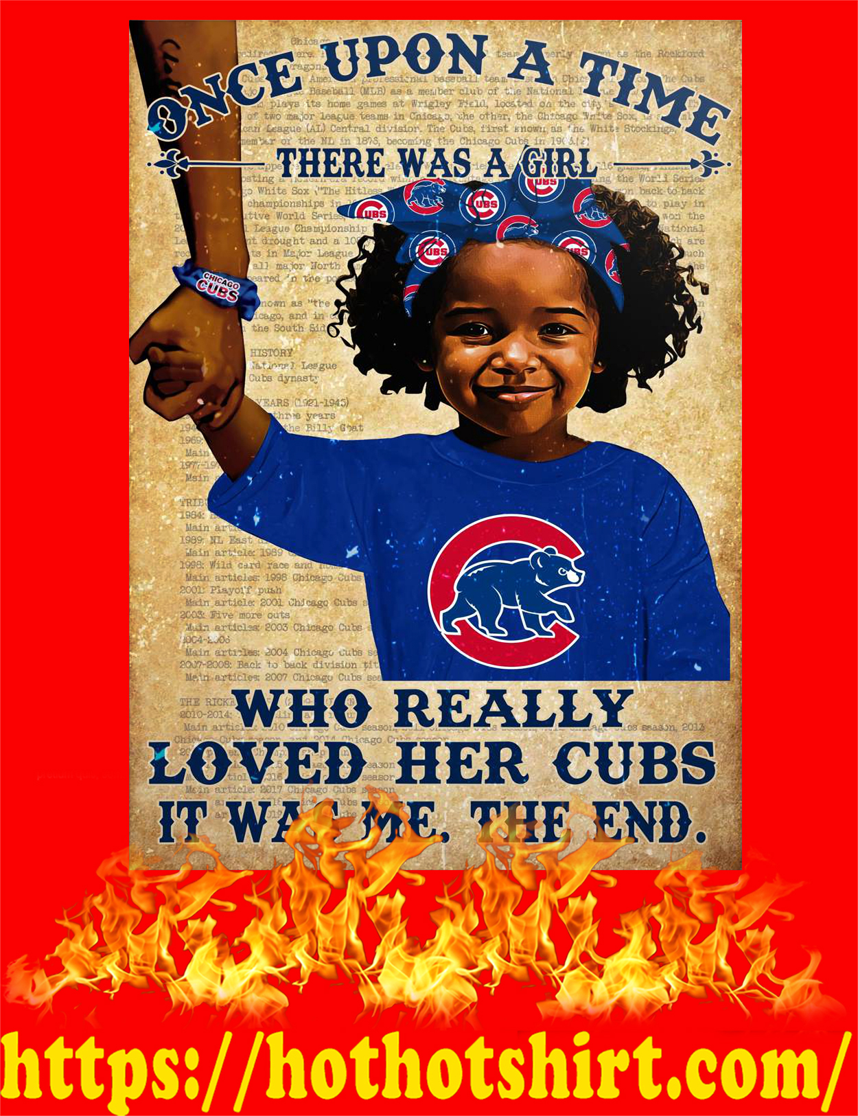 Once upon a time there was a girl who really loved her cubs poster - style 2