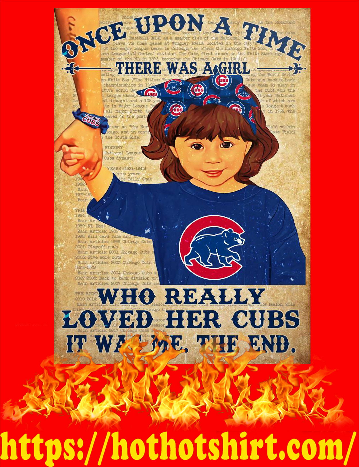 Once upon a time there was a girl who really loved her cubs poster - style 3