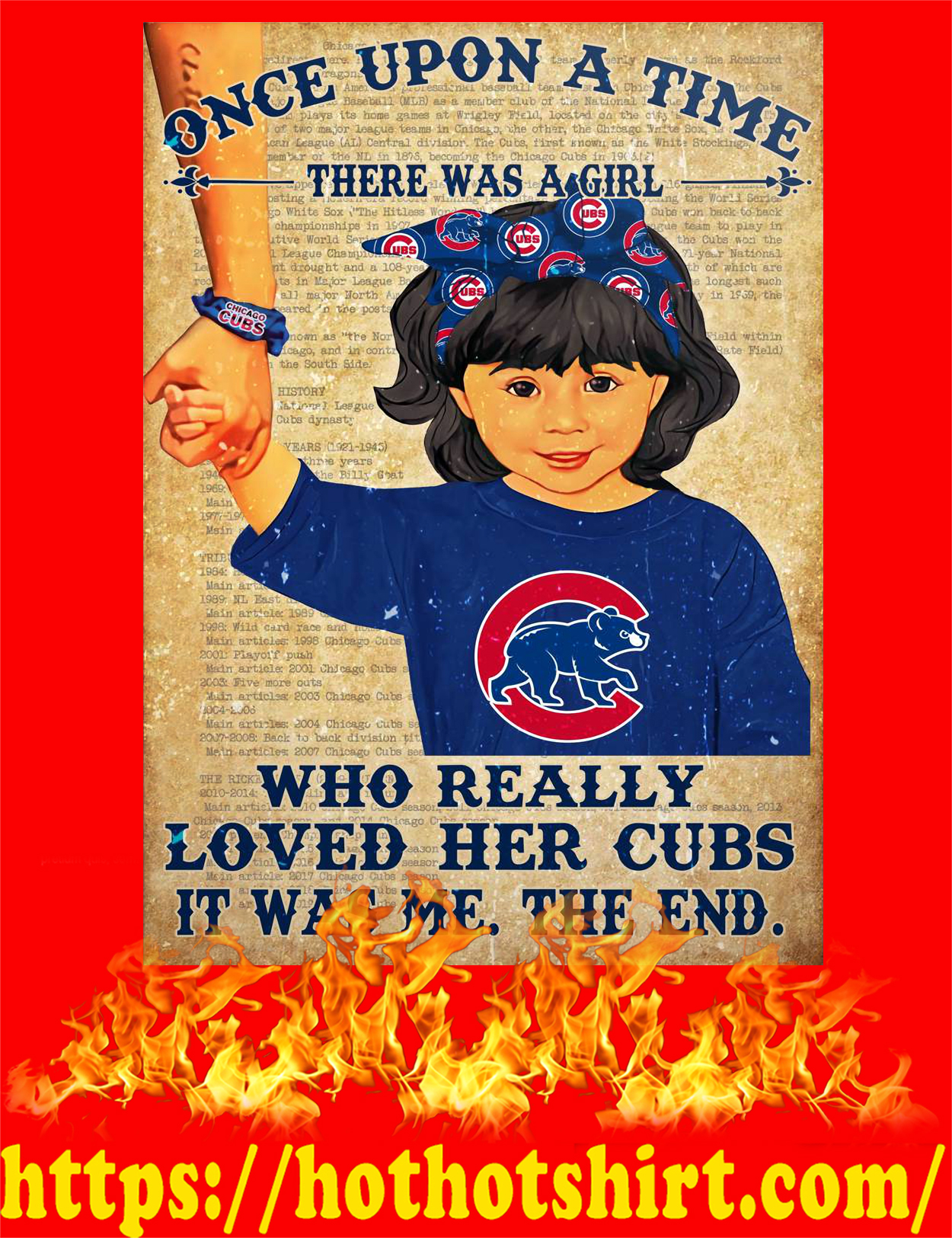 Once upon a time there was a girl who really loved her cubs poster - style 4