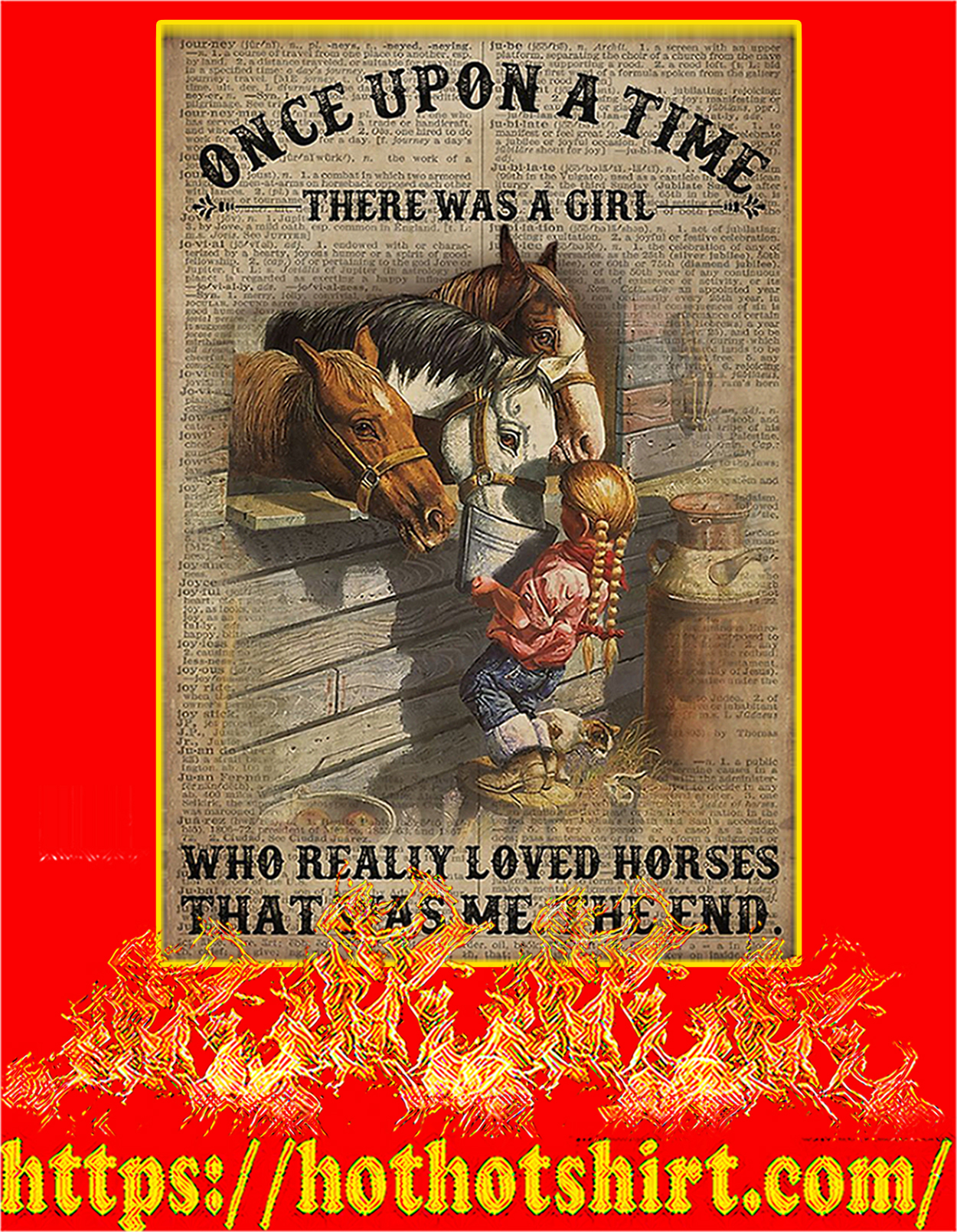 Once upon a time there was a girl who really loved horses poster - A3