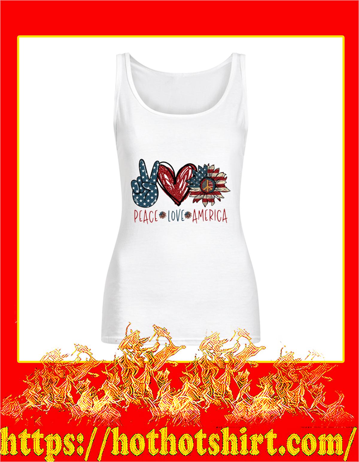 Peace Love America Flowy Tank Top