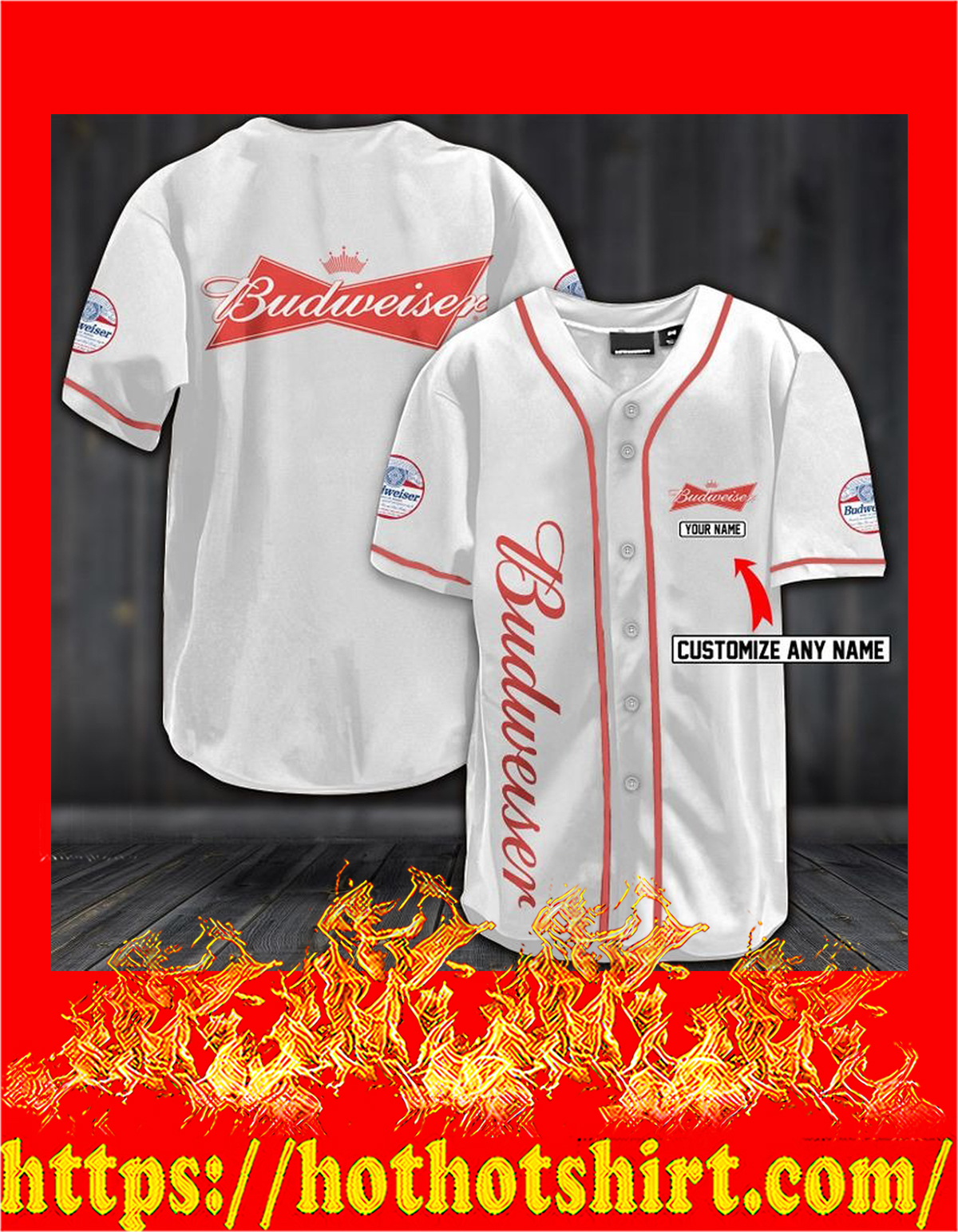Personalize custom name budweiser hawaiian shirt - pic 2