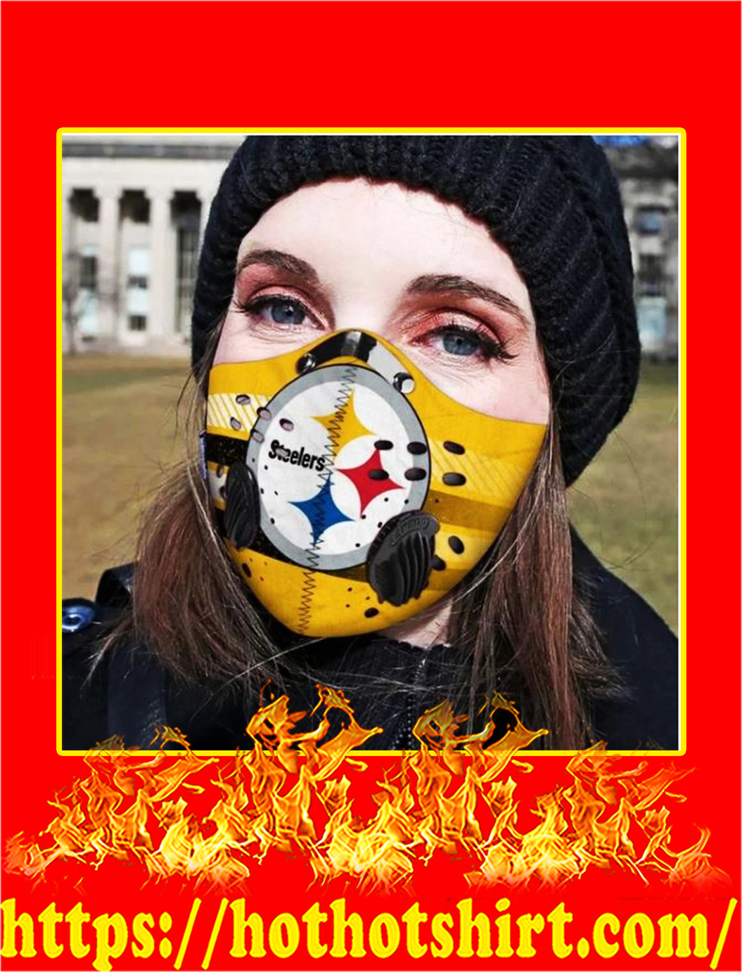 Pittsburgh steelers POD face mask - pic 1
