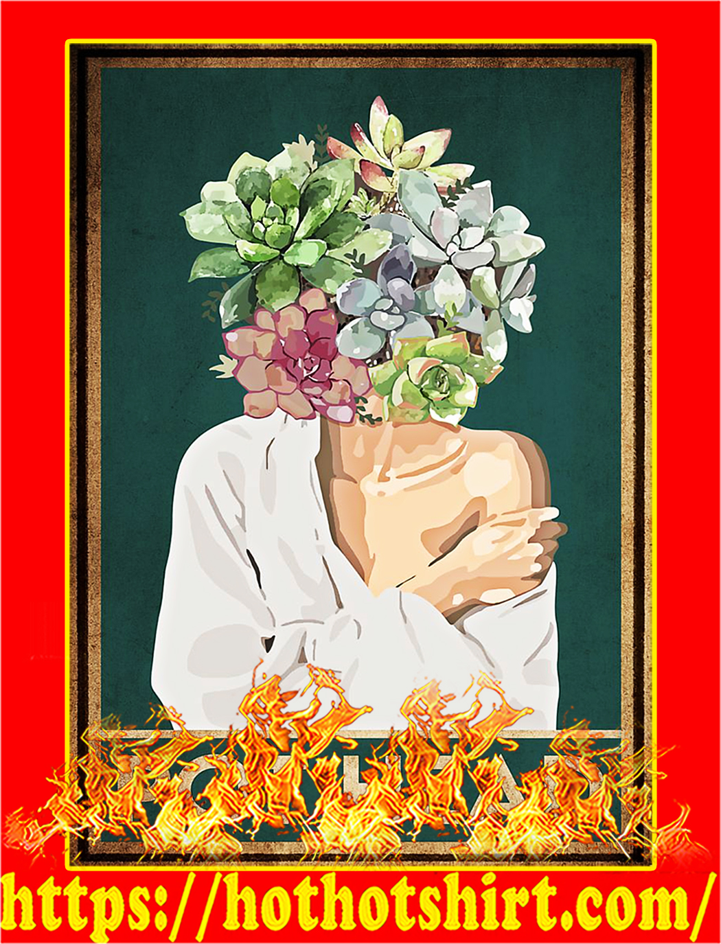 Pot head garden poster - A2