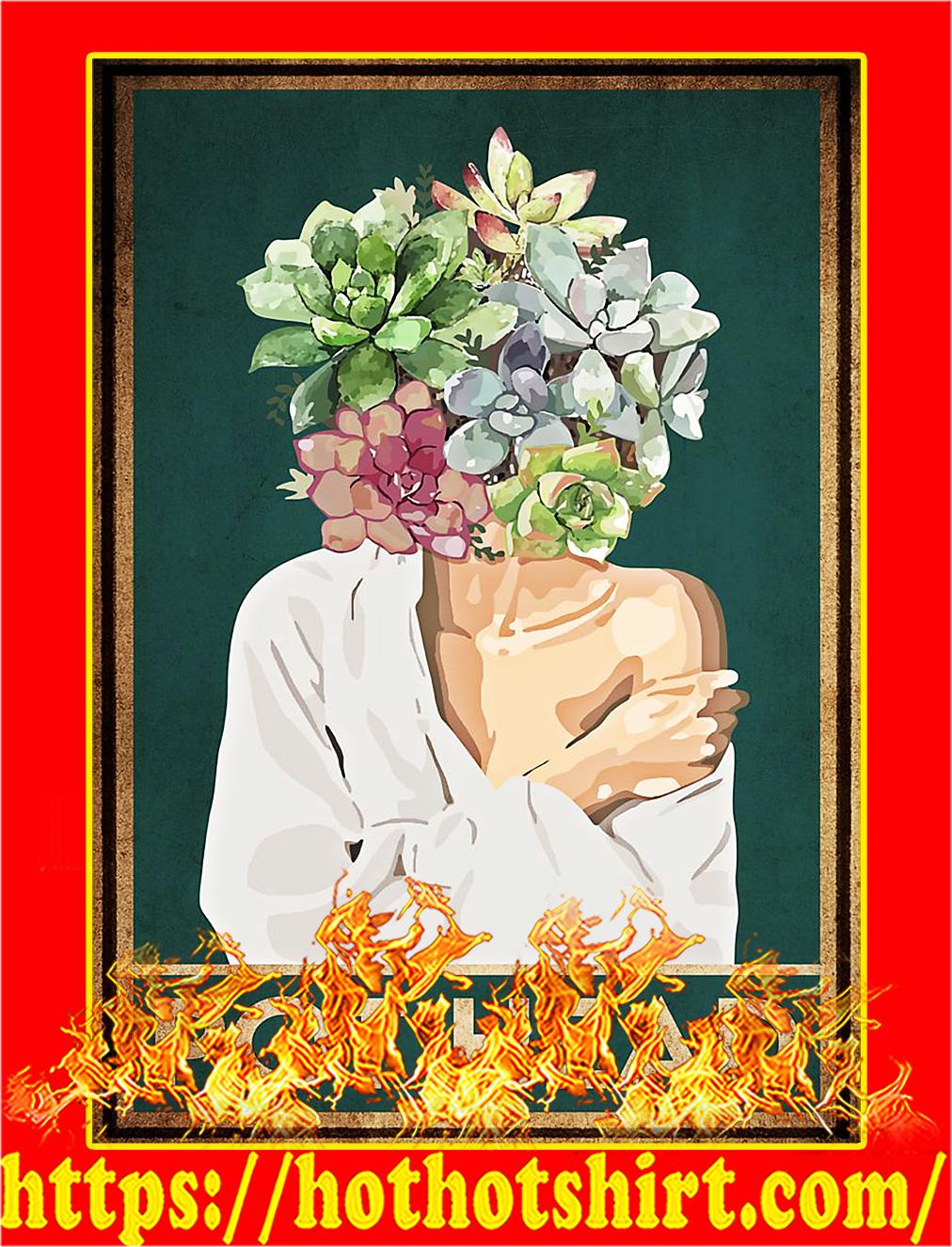 Pot head garden poster - A4
