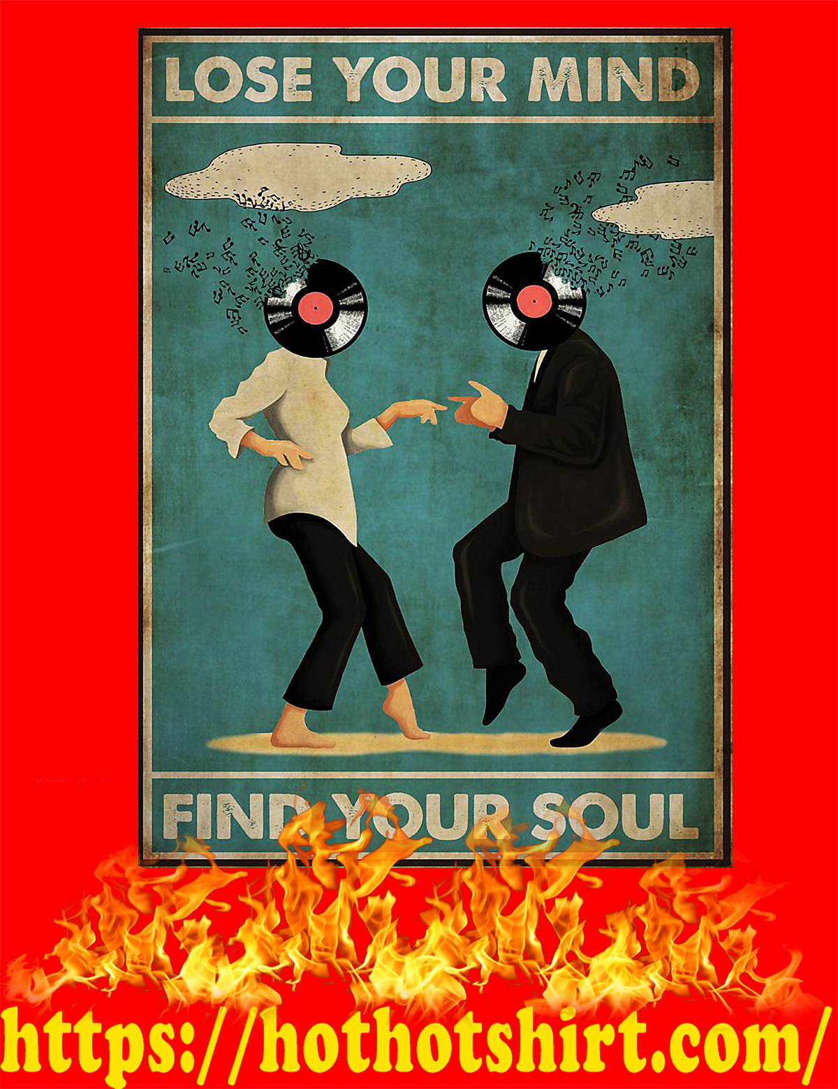 Pulp fiction lose your mind find your soul poster - A4