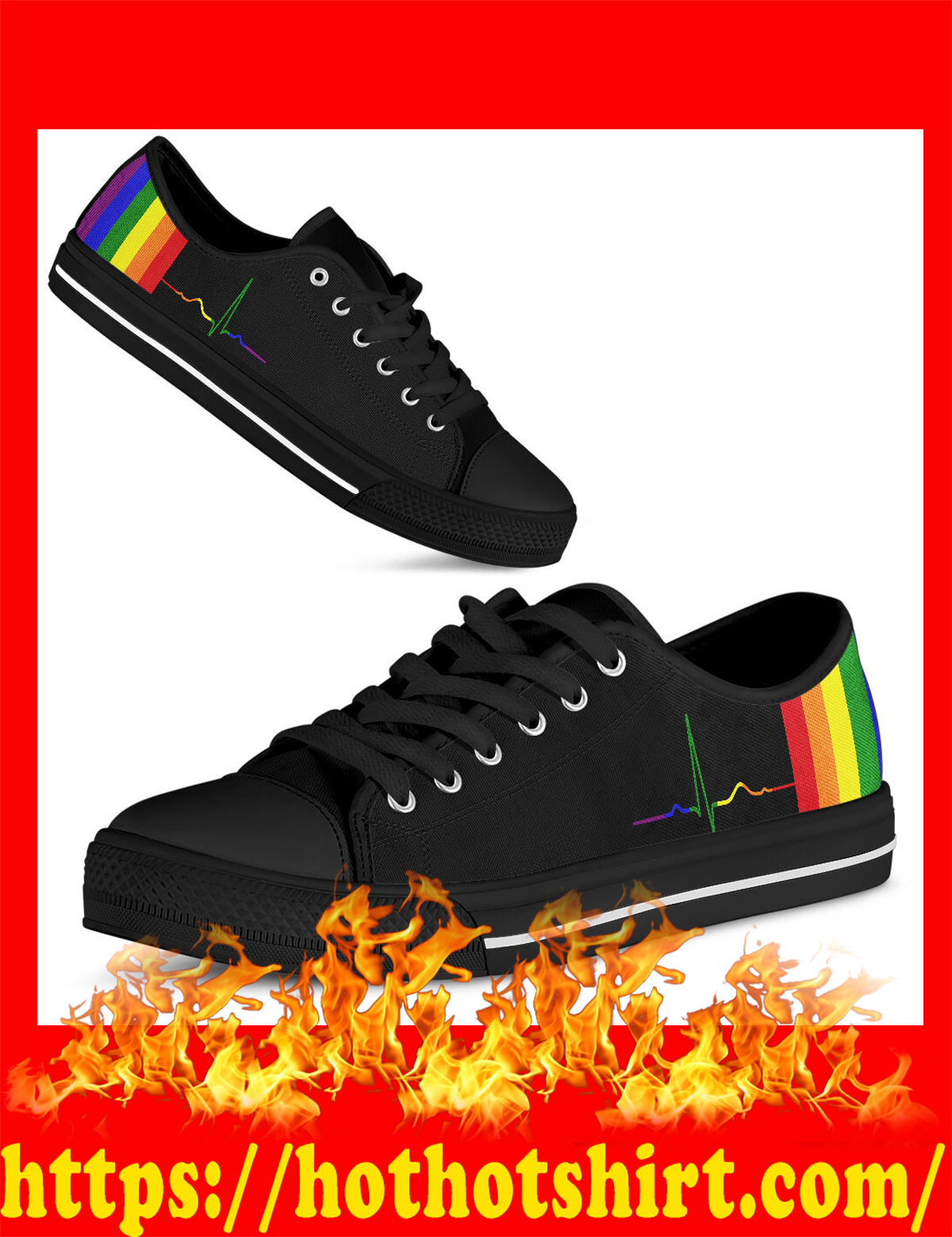 Rainbow beat lgbt low top shoes - pic 3
