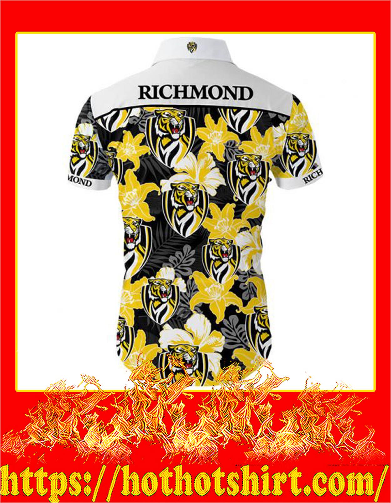 Richmond football club hawaiian shirt - back