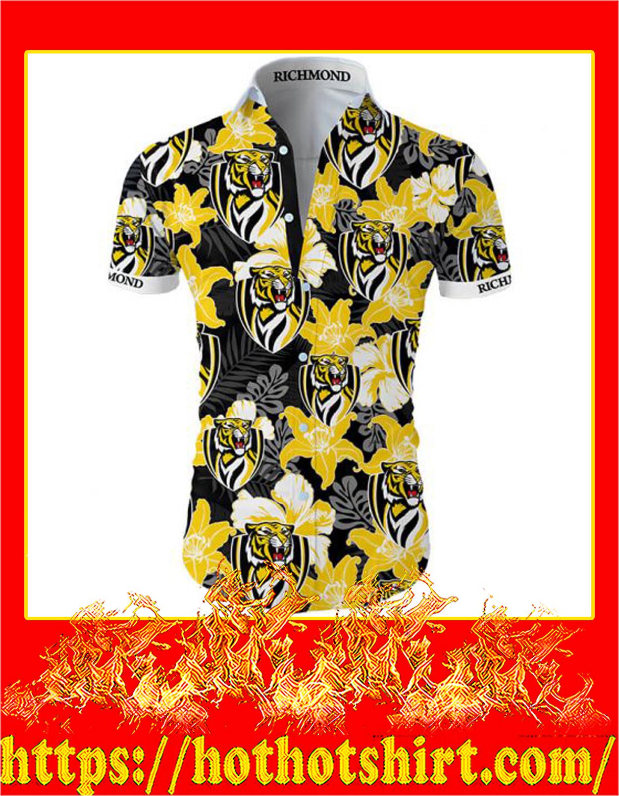 Richmond football club hawaiian shirt - front