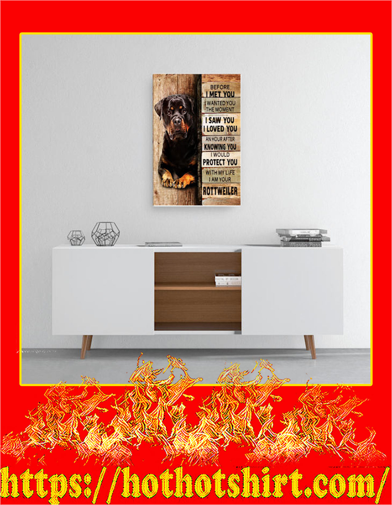 Rottweiler before i met you canvas prints - Medium size
