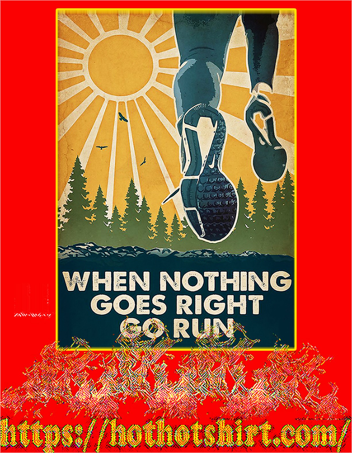 Running When nothing goes right go run poster - a4