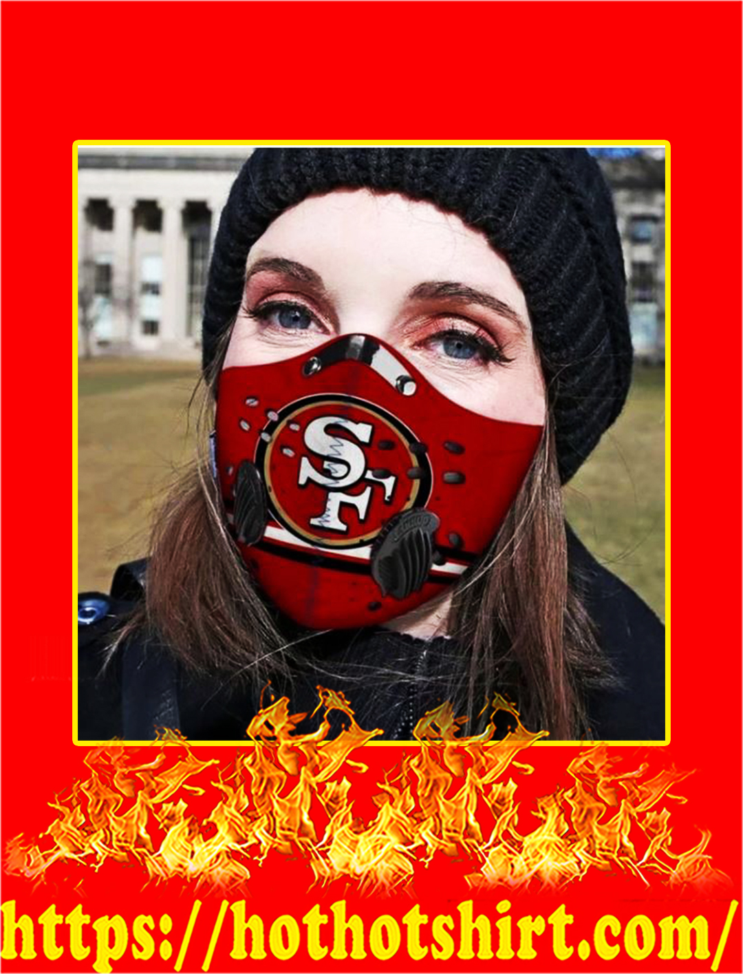SF 49ers POD face mask - pic 1