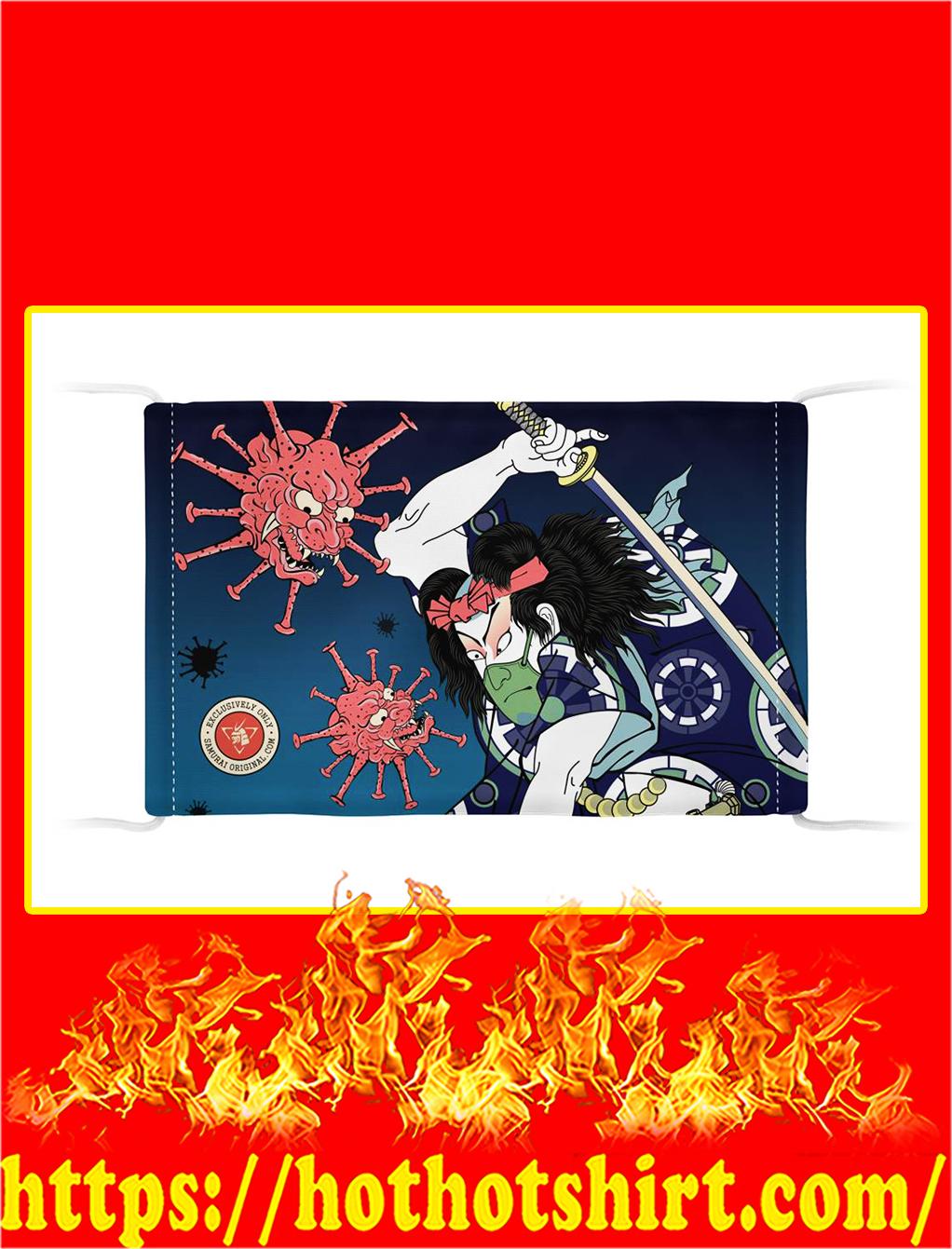 Samurai vs virus demon face mask