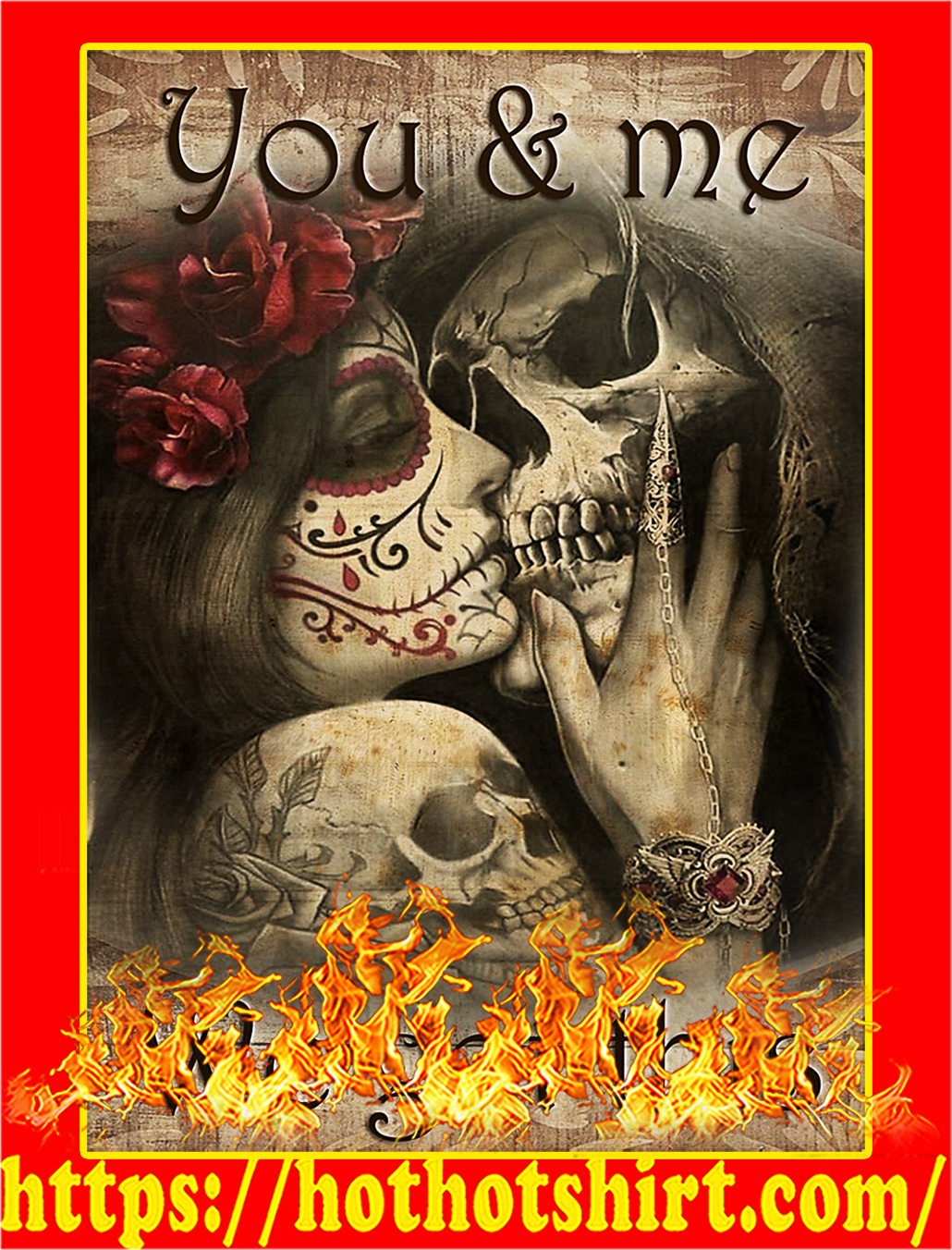 Skull you and me we got this poster - A3