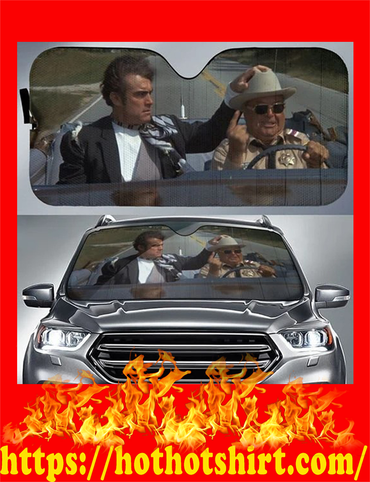 Smokey And The Bandit Car Sunshade - detail
