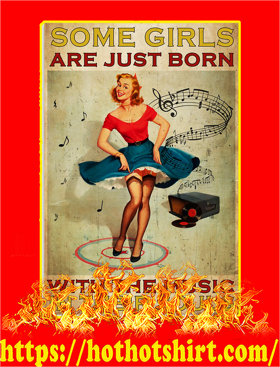 Some girls are just born with the music in their souls poster - A1