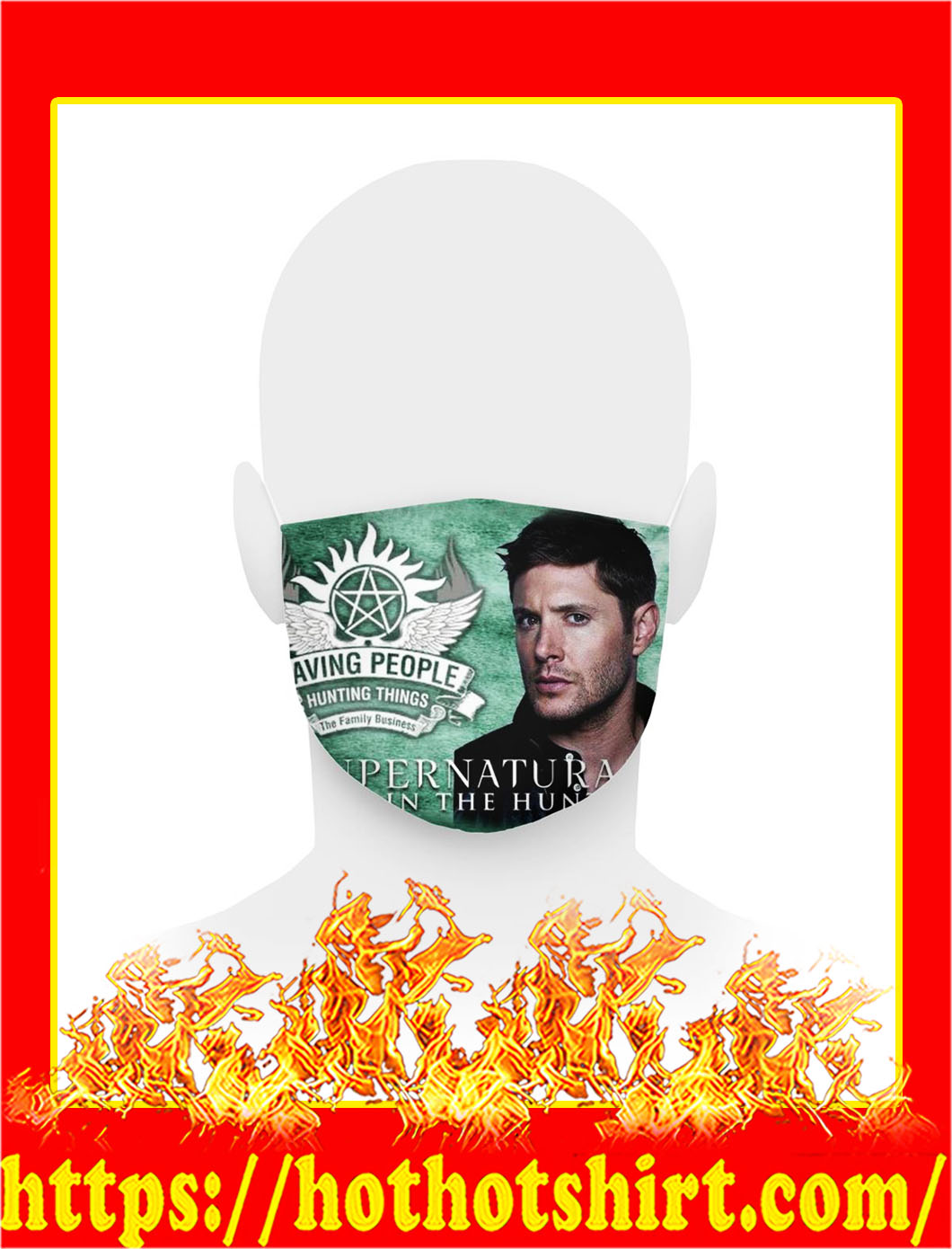Supernatural Dean Winchester face mask- pic 1