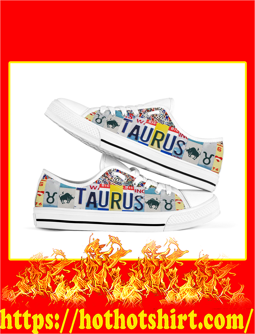 Taurus license plates low top shoes- pic 1