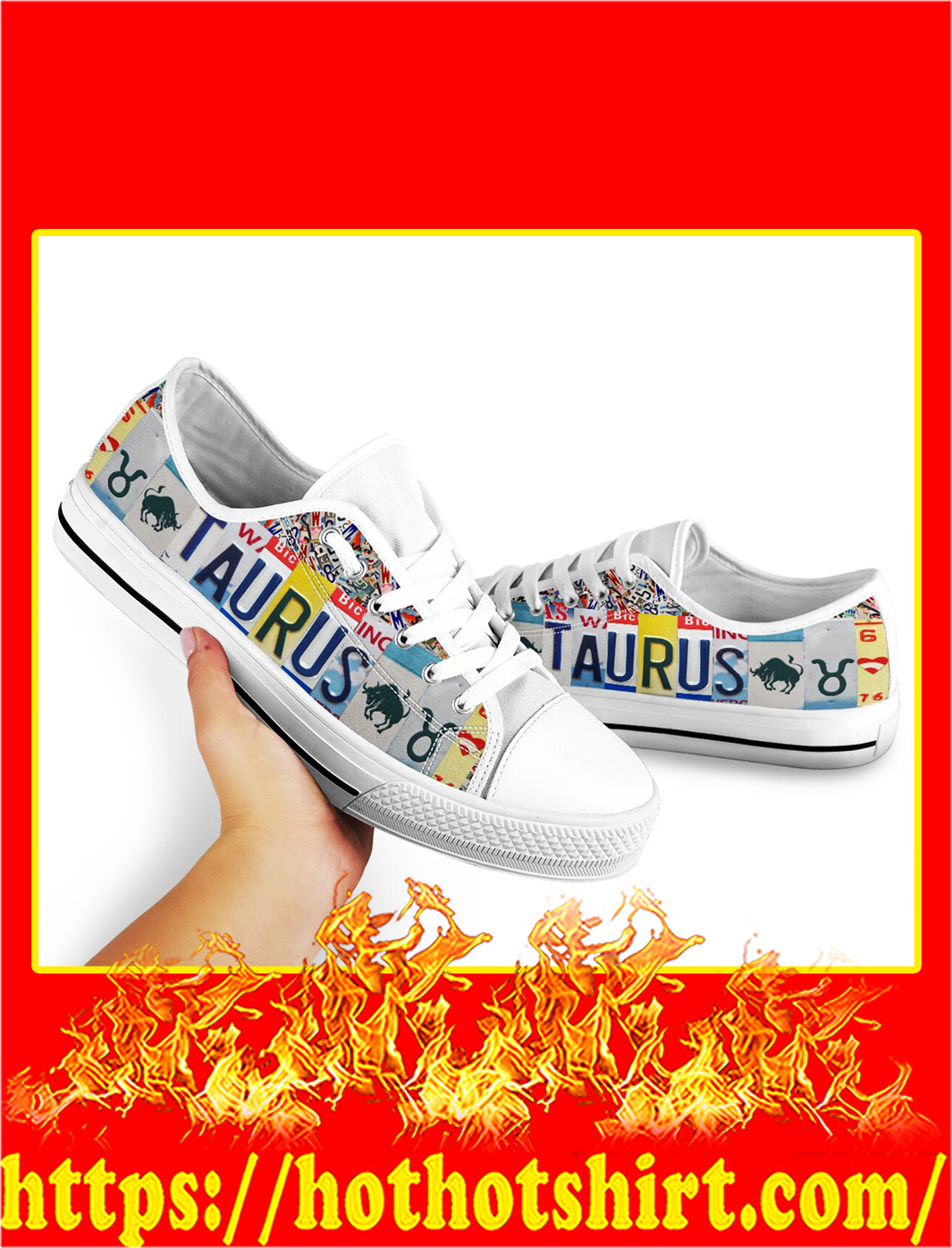 Taurus license plates low top shoes- pic 2