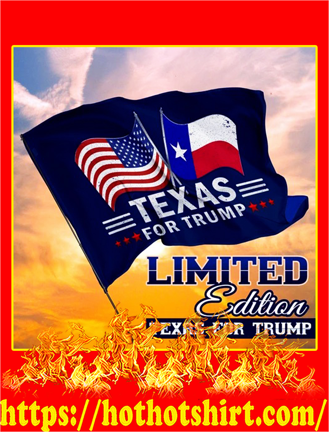 Texas for trump flag - pic 1