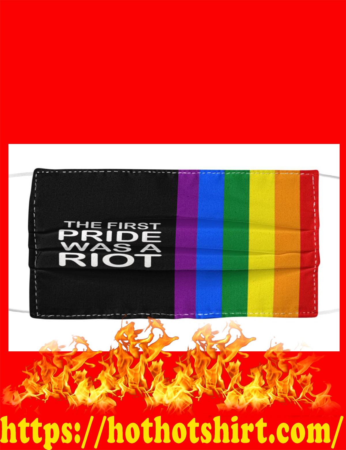 The first pride was a riot face mask - detail