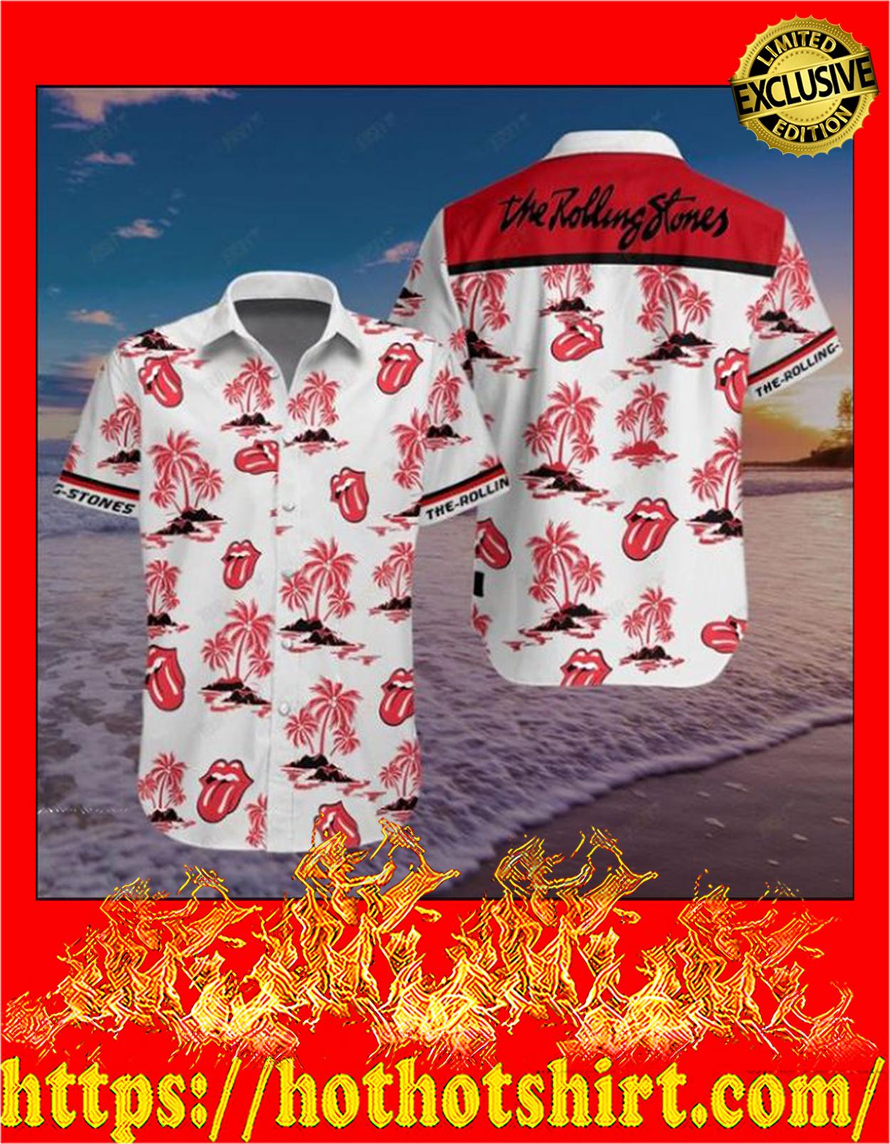 The rolling stones hawaiian shirt - detail