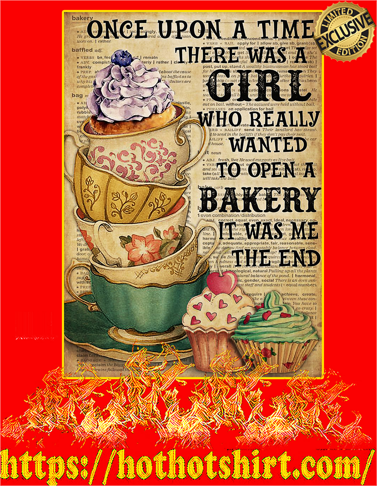 There was a girl who really wanted to open a bakery poster - A4