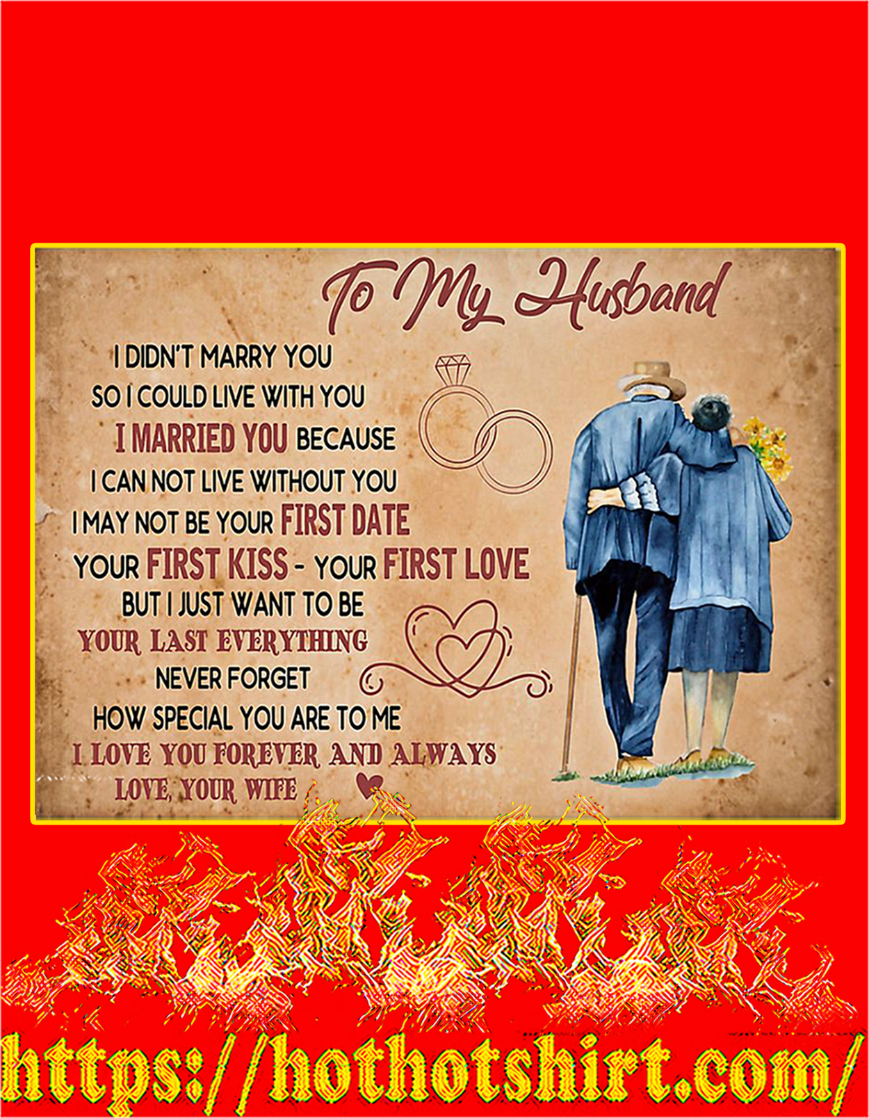 To my husband I didn't marry you poster - A3